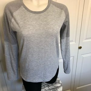 Adidas climalite grey color block long sleeve sz.L